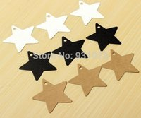 Wholesale Star Kraft Paper Wedding Party Favor Price Gift Card Label Lage Tags White Black Brown Colors