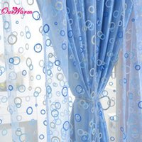 Wholesale Blue Purple Yellow Pink Circle Tulle Sheer Curtain Voile Window Screening Door Balcony Panel Drape Curtain Cover