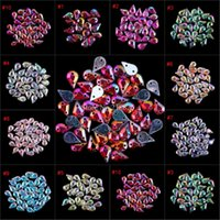 Wholesale New AB Colors Choice DIY mm Teardrop Sew On Rhinestones Holes Sewing On Crystals Sew on Rhinestone Beads
