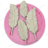 candy molds - Silicone feathers mold for gumpaste cake decorating chocolate hard candy fondant silicone molds for cake decorating cake tools