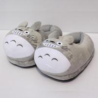 al por mayor zapatos zapatillas de felpa-Mi vecino Totoro de la felpa suave de los zapatos de invierno zapatillas de interior para 11 adultos 28cm