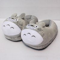 achat en gros de pantoufles en peluche chaussures-Mon voisin Totoro Plush chaussures souples hiver pantoufles pour adulte 11 28cm