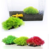 Wholesale 2016 New Fish Tank Decorations Ornaments Artificial Grass Aquarium Decor Water Weeds Ornament Plant