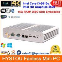 best linux computers - Best Fanless Mini PC Computer Intel Core i3 u HD GB RAM Laptop Memery G SSD Dual HDMI Lan COM Windows Linux Ubuntu