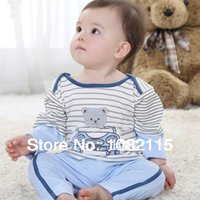 children clothings - Spring Soft Kids Baby Pajama Sets Children Baby Boys Wear Cotton Out wear Tracksuits Clothings Sets for New Born Baby Bodysuits