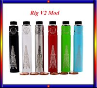 Wholesale RIG V2 Mechanical MODs With Matching Roughneck RDA Rig V2 Kit Magnet Switch Copper Pin fit battery VS Istick w subox nano