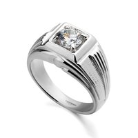 austrian names - new brand name fashion k platinum plated inlay Austrian crystal clear jewelry men s ring R90640