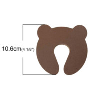 Wholesale Baby Safety Care Safety Door Stoppers Hold Lock Safety Guard Finger Protect Coffee Bear Pattern cm new