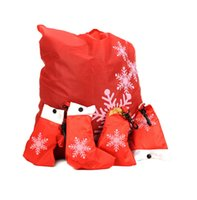 bell marketing - DHL Christmas Shopping Bag Eco friendly Foldable Reusable Super Market Bag Christmas Hats Shoes Socks Gloves Bells Rose Strawberry Bag Gifts