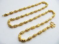 14k gold chains - PURE SOLID K YELLOW GOLD NECKLACE BEADS HEAVY LINK CHAIN G