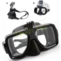 Wholesale 2015 New Hot Sale Underwater Diving Mask for GoPro Hero Camera Accessories Tempered Glass Eyeglass Diving Tools