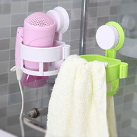 Wholesale Bathroom Hair Dryer Stand Rack Suction Cup Holder Mounted Waterproof Wall Hanger Organizer Shelf Gadget Placement Home Supply