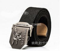Wholesale 2016 Brand name new free mans fashion US navy seal metal eagle buckle striped canvas casual knit strap belts waist cinto smooth for children