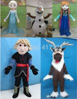 Wholesale popular cartoon character mascot costume cartoon character Elsa Anna Olaf Sven Kristoff mascot costume