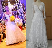 Wholesale New Vestido Noiva Luxury Dreaming Bridal Gown Scoop Sexy Sheer Tulle Long Sleeve Corset Mermaid Sequin Lace Backless Western Wedding Dress