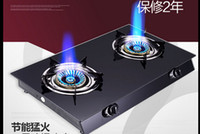 Wholesale Energy saving glass desktop gas burner kitchen burning gas double liquid gas fire like double oven gas stove oven