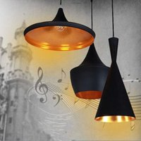 Wholesale Modern Tom Dixon Beat Abc Pendant Lights Musical Instrument Pendant Lamps For Kitchen Black Light Fixture Luminiare hanging lamp order lt no