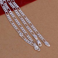 beautiful strange - pretty cute cheap hot strange sterling SILVER fashion MM CHAIN Necklace Beautiful jewelry