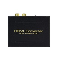 rca to hdmi converter - AY60 HDMI To HDMI SPDIF RCA L R Audio Toslink Optic Extractor Converter D5468A