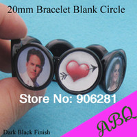 agate cabochons - Fashion Jewelry Bracelets MM Black Round Elastic Bracelet Blanks Bracelet Trays with Bezel Setting mm For Stones or Cabochons