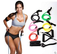 Wholesale Fitness Resistance Bands Resistance Rope Exerciese Tubes Elastic Exercise Bands for Yoga Pilates Workout