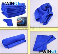 Wholesale Soft Fabric Cleaning Dish Washing Towel Microfiber Cloth For Car Home Blue New