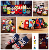 Wholesale 120 New The Avengers Socks Superhero socks The Avengers Adult Socks Superman socks Marvels socks cartoon boat socks Cotton Sports socks