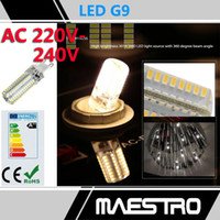 Wholesale G9 SMD AC V V W led W led W led dimmable powerful LED lights Corn Bulb Droplight Chandelier Replace W W halogen