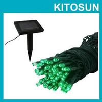 Wholesale KITOSUN green color LED Solar Fairy Lights Outdoor Garden Light Solar Powered Landscaping Battery Light String