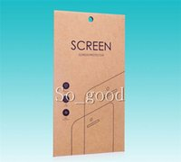 kraft box - Universal Kraft Paper Retail Package Box For Iphone s plus Samsung s4 s5 note Screen protector packaging
