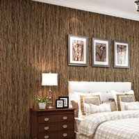 Wholesale 2015 Hot Classic Vintage Wood Pattern Stripe Non Woven Printed Wallpaper For Walls Living Room TV Background Decoration Wall paper Roll