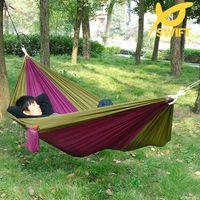 Cheap Free shipping Portable High Strength 100% 210T Parachute Nylon Hammock Garden Swing Hammock