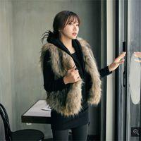 Wholesale Brand New Womens Fall Fashion Faux Fur Vest Plus Size Womens Clothing S XL Sleeveless Coat Female High Quality Fur Coat