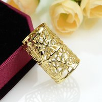 Wholesale Hot Selling Fashion Design Gold Color Alloy Hollow Out Ring for Women Party Factory Price