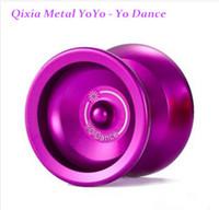 Wholesale 2016 New Fashion Magic genuine goods Qixia Metal YoYo Yo Dance Purple Gold Professional yo yo Children Adult