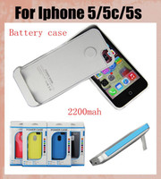 iphone 5 charger case - Popular battery Case mAh Portable phone charger backup portable power case phone case in external charging for iphone s c BAC008