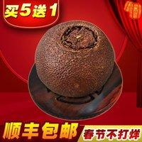 Wholesale Authentic Xinhui palace Pu er tea cooked tea loose tea Menghai premium vintage tangerine orange Poor Poor Poor orange tea