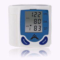 automatic measuring - Free DHL Digital LCD Wrist Arm Blood Pressure Monitor With Heart Beat Rate Pulse Measure Health Care Monitors