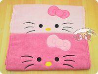 air bathroom - Home Textile Cartoon Hello Kitty Face Towels for bathroom or washing to dry air or hand or body Bath Towel for Children or Woman