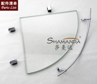 bathroom glass shelf brackets - Bathroom Accessories Chrome Finish Bathroom Glass Brackets Single Glass Shelf