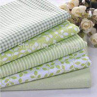 Wholesale New x30cm Mixed Green Flowers Tilda Patchwork Cotton Fabric Home Textile Cloth Group for Tilda Cloth Crafts Handwork