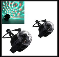 Wholesale 20Pcs Professional Mini DMX Disco DJ Stage Light LED RGB Crystal Magic Ball Effect voice control stage lightingQ109