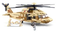 best fighter aircraft - Sluban M38 B0509 UH OL Military Black Hawk helicopters building blocks fighter toys Compatible with Legominifigure Best Gift for children