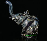 bongs - 4 quot Glass pipe elephant hand made smoking glass pipe tobacco pipe glass colurful pipe glass bubbler glass bong