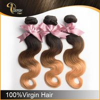 Cheap Hot Selling 6A 12-30 inch Body Wave Hair Weft Ombre Hair Extension 3pcs lot Brazilian Human Hair Weave