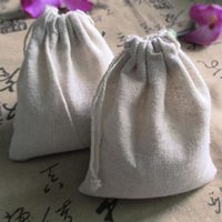 Wholesale Cotton Linen Gift Bags cmx10cm cmx12cm cmx15cm lavender Dried Flower Fashion Jewelry Gift Pouches Rustic Wedding Party Favor Holders