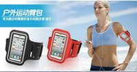 Leather bd bags - DHL For Iphone Armband Case Running Gym Sports Arm band Mobile Phone Bag Holder Pounch cover case For iphone S S Samsung S5 BD