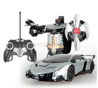 Wholesale RC Transformation Bumblebee car Remote Control Car electric Toys action figures class Boys One key Transform Christmas Gift