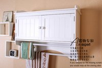 bathroom hutch - Super thick kitchen cabinets bathroom ark condole ark of hutch ark Receive ark Two doors with two towel bar