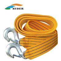 Wholesale Outdoor Travel Car Towing Ropes Driver Traction Belt With Hook Field Trailer Belt Hammock Strapping Tape Bearing Capacity kg